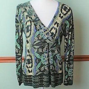 Nic + Zoe Size Medium Silk Blend Sweater